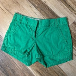 Emerald green J Crew shorts